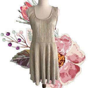TOPSHOP Gold Shimmery Short Sleeveless Dress
